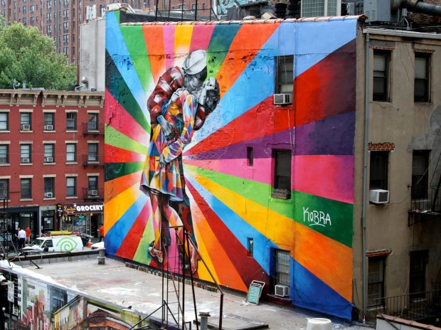 Peinture murale Eduardo Kobra @ NYC