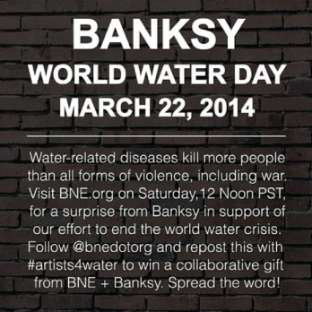 Banksy - World Water Day