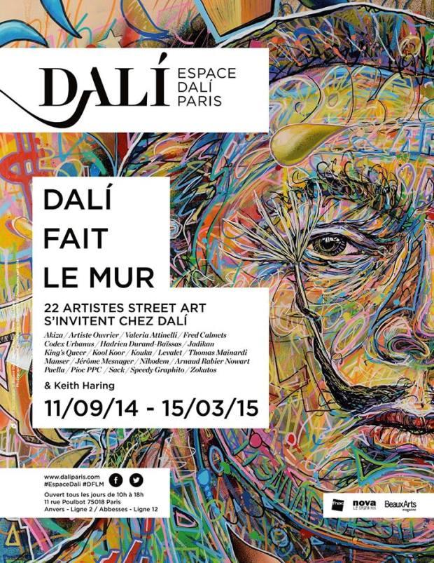 Affiche - Dali fait le Mur