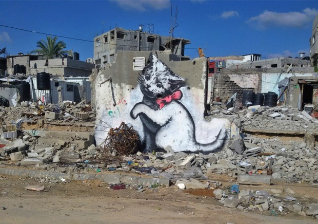 Internet loves kitten - Banksy @ Gaza