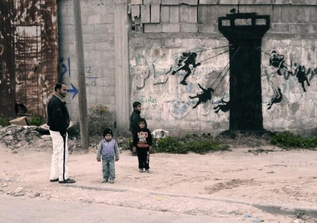 Gazaouis - Banksy @ Gaza