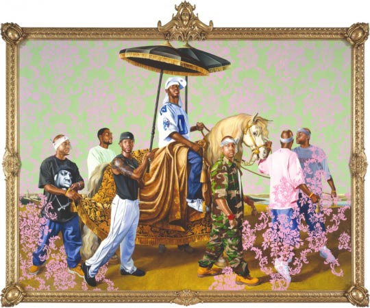Kehinde Wiley, The Chancellor Seguier on Horseback, 2005, oil and enamel on canvas, 108 x 72 inches © Kehinde Wiley